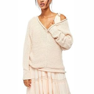Free People Bright Lights Sweater in Chamoix Ivory